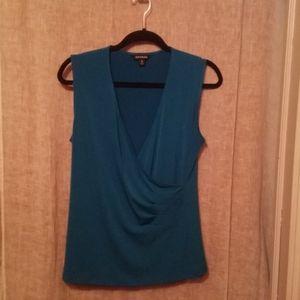 Womens Sleevless Faux Wrap Top Size M